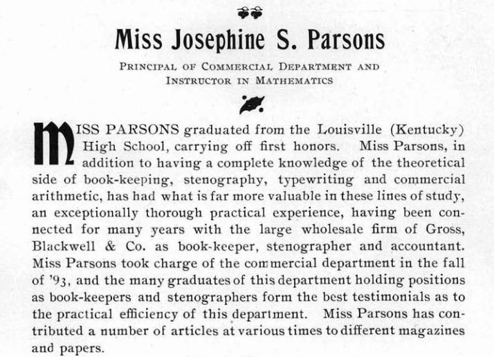 Josephine S. Parsons