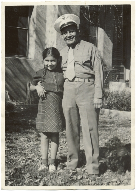 Josephine Waconda (left) and her father, Miguel Trujillo, in the late 40's..jpg