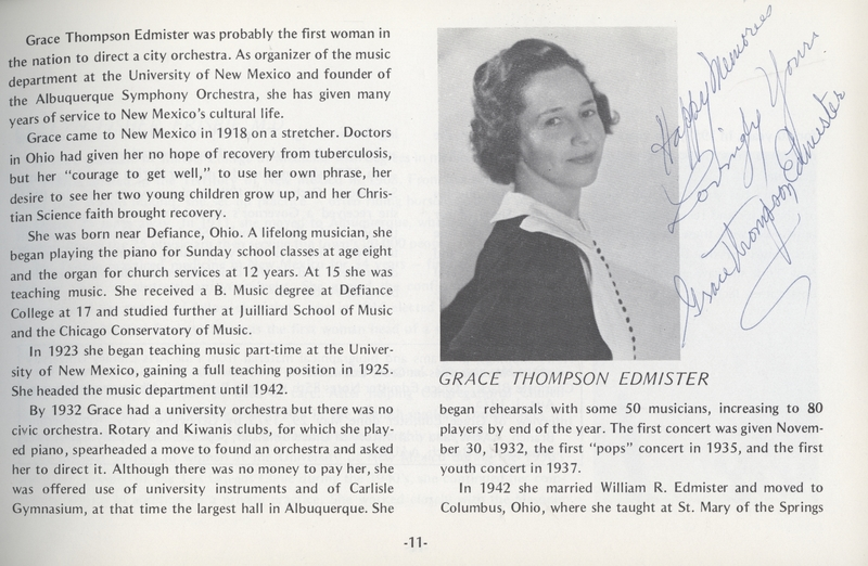 Grace Thompson Edmister - Signed Exhibit Catalog Page
