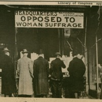 """""""Headquarters, National Association Opposed to Woman Suffrage"""""""