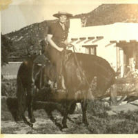 Louise Holland Coe on Horseback