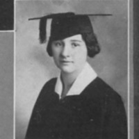 Lena Clauve, UNM Graduation Photo, 1925