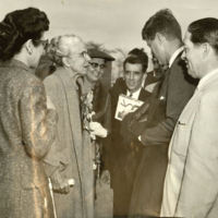 Concha Ortiz y Pino and Erna Fergusson Talk with JFK