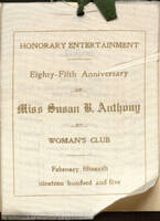 Albuquerque Women's Club Program of Honorary Entertainment